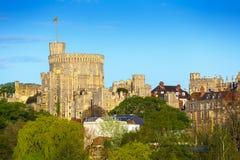 在温莎城堡的圆的塔 温莎,柏克夏,英国,英国 免版税库存照片