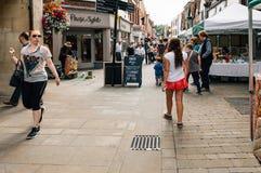 在温彻斯特的市场 免版税库存照片