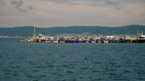 在港口的小船 影视素材