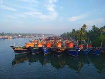 在港口的小船 图库摄影