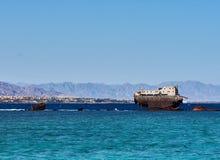 在港口的船 免版税库存照片