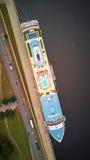 在港口的船 库存图片