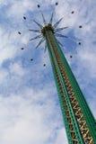 在游乐园的Prater塔在维也纳 库存图片