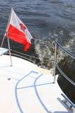 在游艇海运的波兰波兰少尉标志 免版税图库摄影