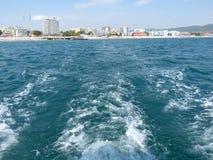 在游艇的步行 免版税库存图片