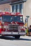在游行的救火车在Warrenton,弗吉尼亚 库存照片