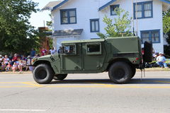 在游行的Humvee 免版税库存图片
