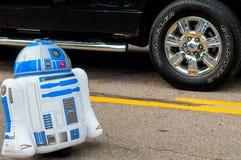 在游行的R2-D2 图库摄影