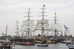 在游行阿姆斯特丹的风帆2015年 飞剪机Stad阿姆斯特丹 库存图片