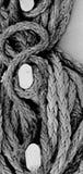 在游轮的海洋缆绳细节 库存图片