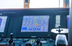在游轮的航海屏幕 库存照片