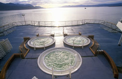 在游轮马可・波罗,南极洲甲板的极可意浴缸  库存图片