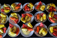 在湄公河三角洲的果子 免版税库存照片