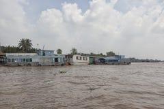 在湄公河的吹嘘在越南 免版税库存图片