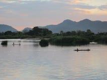 在湄公河 免版税库存图片
