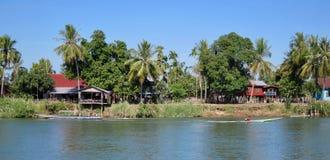 在湄公河 库存照片