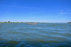 在湄公河 图库摄影