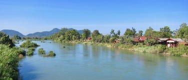 在湄公河 免版税库存照片