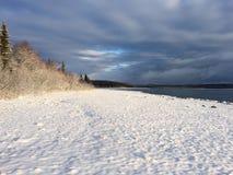 在湖克拉克的冬天 免版税库存照片