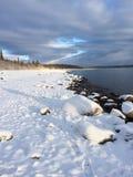 在湖克拉克的冬天 库存图片