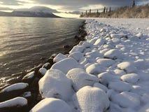 在湖克拉克的冬天 库存照片