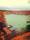 在湖安娜的秋天 库存照片