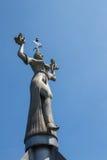 在湖康斯坦茨的统治权雕象 免版税库存照片