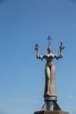 在湖康斯坦茨的统治权雕象 免版税库存图片