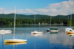 在湖的一田园诗天 库存照片