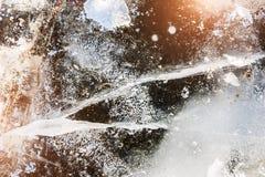 在湖的冬天冰 库存照片