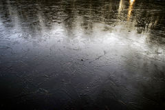在湖的冰 库存图片
