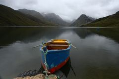 在湖的划艇 库存照片