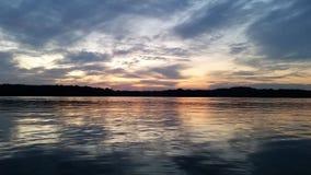 在湖的卡罗来纳州风景 库存图片