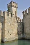 在湖的城堡 图库摄影