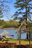 在湖的复活节 免版税库存照片
