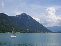 在湖的夏天在奥地利 免版税图库摄影