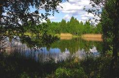 在湖的安静 免版税库存图片
