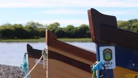 在湖的小船 影视素材