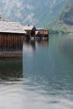 在湖的小雨 免版税库存照片