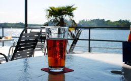 在湖的工艺啤酒湖的哈密尔顿, AR 库存图片