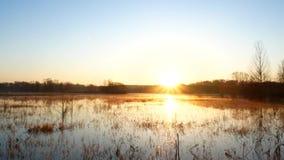 在湖的日出,在河的日出,早晨风景, 股票视频