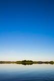 在湖的早晨 库存图片