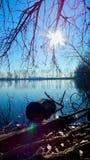 在湖的晴天 图库摄影