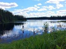 在湖的桨 免版税库存照片