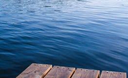 在湖的波纹 免版税库存照片