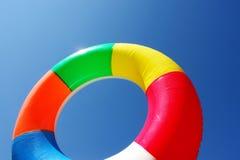 在湖的游泳圆环 库存图片