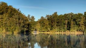 在湖的狭窄的点 库存图片