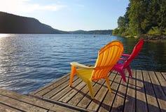在湖的生活 免版税库存图片