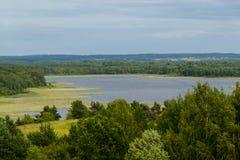 在湖的看法 库存图片