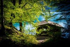 在湖的Hause 库存图片